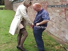 Amateur, British, Handjob, Outdoor