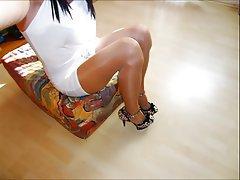 Amateur, Lingerie, Spandex, Stockings