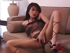 Asian, Dildo, High Heels, Thai