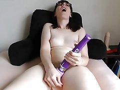 Amateur, Masturbation, Webcam, Glasses