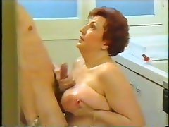 BBW, Blowjob, Granny, Old and Young