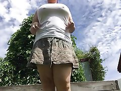 Amateur, BBW, Outdoor, Pissing