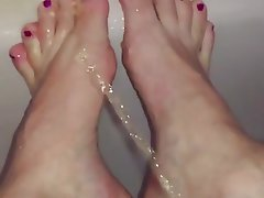 Foot Fetish, Babe, Pissing