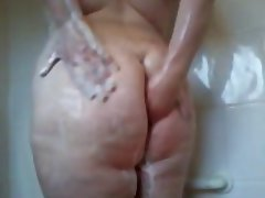 Amateur, BBW, Hairy, Shower
