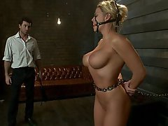 BDSM, Blondine, Blowjob, Rau