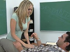 Student, Coed, Blonde, Cute