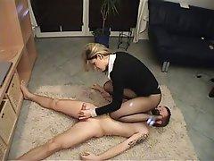 BDSM, Gesicht Sitzen, Femdom, Handarbeit