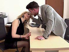 Blondýna, Výstřik, Kancelář, Sekretářka