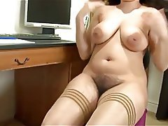 Big Boobs, Hairy, Masturbation