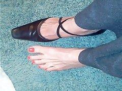 Fuß Fetisch, Selbstbefriedigung, Reifen, MILF