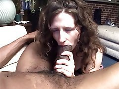 Blowjob, Facial, Interracial, Brunette