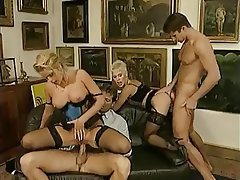 German, Group Sex, Hairy, Stockings