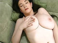 Brunette, Massage, Masturbation, Big Boobs