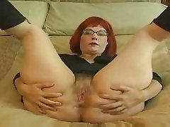 Big Boobs, Masturbation, Mature, Redhead