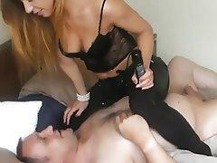 BDSM, Blondine, Femdom, Strümpfe