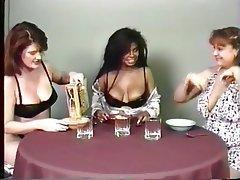 Lesbian, Mature, Big Boobs, Interracial