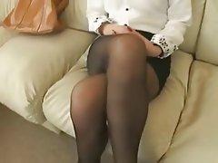 Asian, Foot Fetish, Stockings