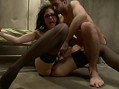 BDSM, Brunette, Submissive, Stockings
