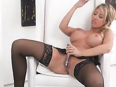 Big Tits, Masturbation, Panties, Stockings