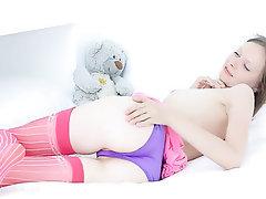 Masturbation, Solo, Stockings, Babe